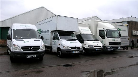 Delivery Vans for used office furniture