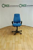KinnarpsKinnarps 8000 Task Chair Available In Any Colour FabricKinnarps 8000 chair used second hand with arms, sliding seat, height adjustable arms, height adjustable, syncro action and height adjustable back.  When new these would retail at £595 + Vat therefore you would be saving over £430.  Please note that this chair can be recovered in any choice of colour fabric at no extra cost.