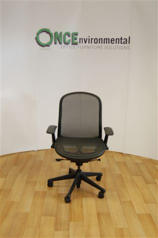 used chairs knoll chadwick operator chair in black mesh