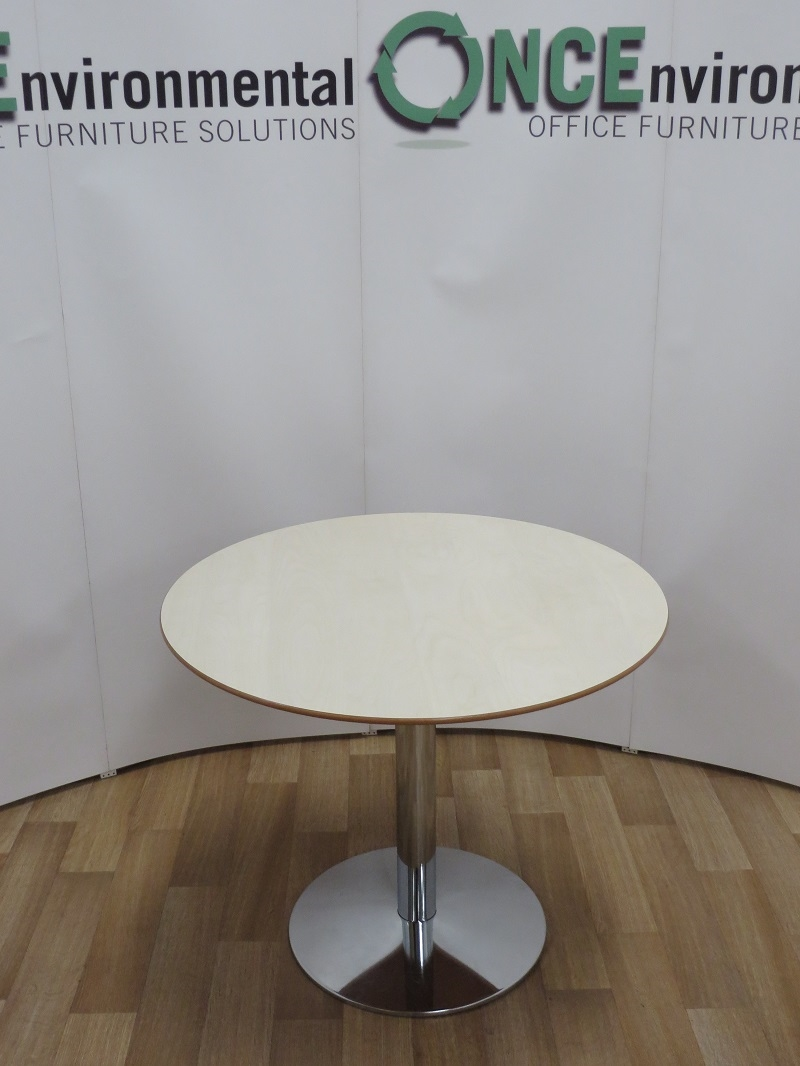 Tables   Allermuir Maple 900MM Diameter Round Table