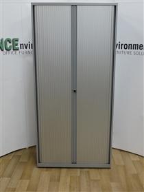 BisleyBisley Silver Tambour Door Cupboard 2100H x 1000W x 470D