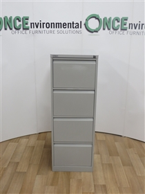 BisleyBisley 1320H x 620D x 470W 4-Drawer Fing Cabinet In Goose GreyBisley used second hand 4-Drawer Filing Cabinet In Goose Grey.