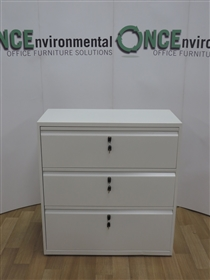 BisleyBRAND NEW Bisley Systemfile 3-Drawer Side Filer 997 - 1021H x 1000W x 470DBisley Systemfile White 3-Drawer Side Filer 997-1021h x 1000w x 470d.