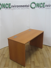 Cherry 1200W x 600D Panel End Rectangular Desk. 8 IN STOCK.Cherry 1200 x 600 used second hand panel end rectangular desk.