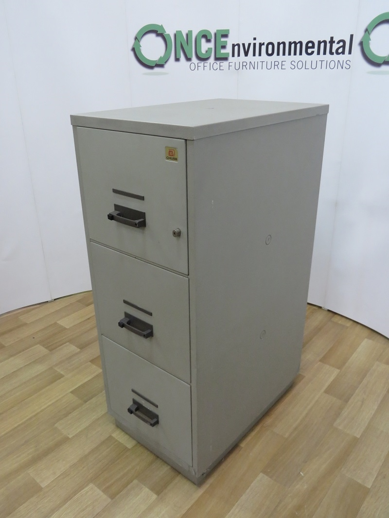 Used Office Storage Chubb Fireproof 3 Drawer Filing