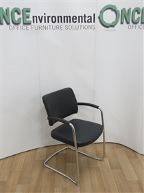 ConnectionConnection My Meeting Chrome Frame Stackable Cantilever Arm Chair Available In Any Colour FabricConnection my meeting chrome frame stackable cantilever arm chair. This chair will stack four high.