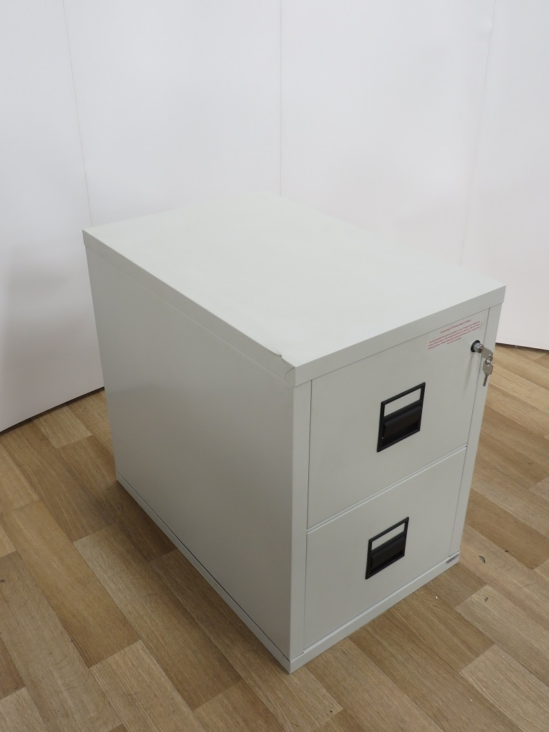 Used Office Storage Fire King 2-Drawer Fireproof Filing Cabinet ...