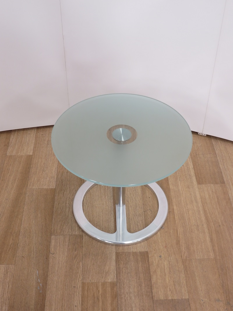 Used Tables Frosted Glass Coffee Reception Table 500nm