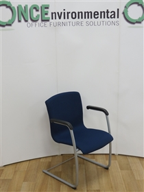 Zag Full Back Cantilever Arm Chair Available In Any Colour Fabric.Full back used second hand cantilever arm meeting chair available in any colour fabric.