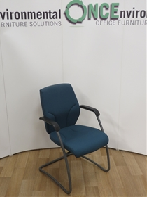 GiroflexGiroflex G64 Cantilever Arm Chair Available In Any Colour FabricUsed second hand Giroflex G64 cantilver arm chair available in any colour fabric. Frame colour is graphite grey and the arms are black.