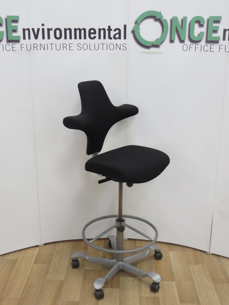 Chairs   Hag Capisco 8126 With Adjustable Footring Available In Any Colour  Fabric