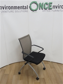HaworthHaworth Comforto X99 Seminar Chair Available In Any Colur Fabric SeatUsed second hand Haworth X99 seminar chair with a mesh back and arms. On a silver leg frame with castors. Seat available in any colour fabric.
