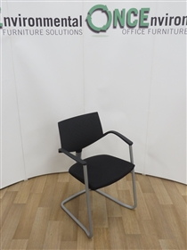 HaworthHaworth Comforto Zody Stackable Cantilever Arm Chair Available In Any Colur FabricUsed second hand haworth comforto zody stackable cantilever arm chair available in any colour fabric. With black poly arms and back, silver finish frame. This chair will stack five high.
