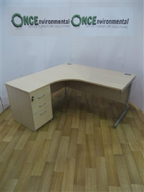 ImperialImperial Maple 1600W x 1200D Left Hand Workstation. 39 IN STOCK.Imperial 1600mm x 1200mm left hand workstaion complete with a 3-drawer desk high pedestal.