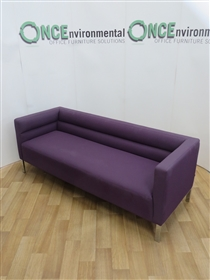 Joba Reception Sofa 1900W x 700D Available In Any Colour FabricJoba second hand used reception sofa on chrome legs.