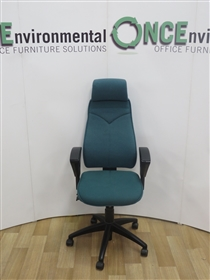 KinnarpsKinnarps 6000 With Head Rest Available In Any Colour Fabric Kinnarps 6000 Used Second Hand Chair With Head Rest.