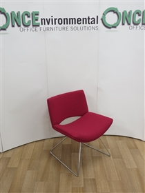 KomacKomac Jolly Reception Chair Available In Any Colour FabricKomac Jolly reception chair on a chrome sledge base available in any colour fabric.