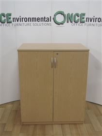 Light Oak 1200H x 1000W x 500D Double Door Cupboard. 9 IN STOCK.Light Oak used second hand 1200h x 1000w x 500d double door cupboard.