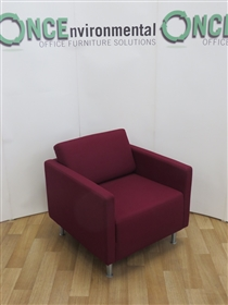Orangebox Ogmore-O1 800W x 820D Available In Any Colour FabricOrangebox ogmore-01 used second hand reception chair available in any colour fabric.
