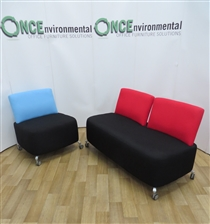 OrangeboxOrangebox Path Reception Set Available In Any Colour Fabric Used second hand Orangebox path reception set comprising of 1 x single seater unit 730w x 800h x 570d and 1 x sofa 1450w x 800h x 470d and available in any colour fabric.
