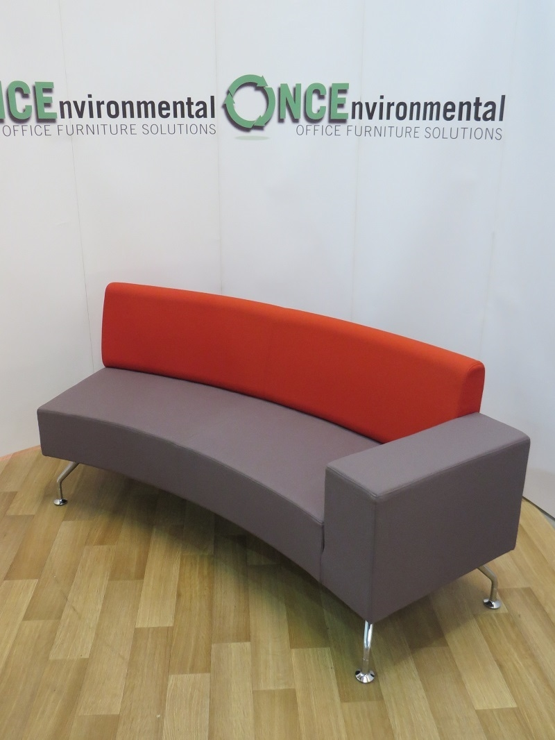 Used Chairs Orangebox Path Concave Reception Sofa With A