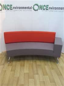 OrangeboxOrangebox Path Concave Reception Sofa With A Single ArmOrangebox Path single arm reception sofa 2000w x 680d on shaped chrome legs.