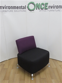 OrangeboxOrangebox Path Reception Unit 730W x 800H x 470D Available In Any Colour FabricUsed second hand Orangebox path reception unit 730w x 800h x 570d on shaped aluminium glides available in any colour fabric.