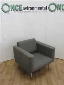 OrangeboxOrangebox Reception Arm Chair 800W x 800D Available In Any Colour Fabric.Orangebox used second hand reception chair on chrome legs available in any colour fabric.