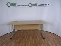 OFIOFI 1600 x 800 Light Oak Rectangular Desk. 21 IN STOCK.