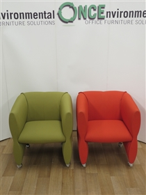 Reception Arm Chair 650W x 620D Available In Any Colour FabricUsed second hand reception arm chair available in any colour fabric on castors. Dimensions are 650w x 620d.