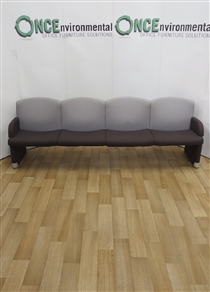 Four Seater Reception Unit Available In Any Colour FabricFour seater used second hand reception sofa unit.