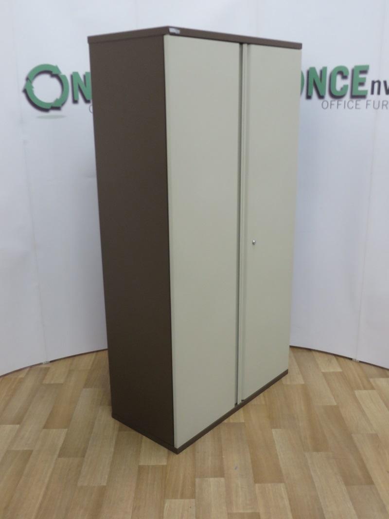 Used Office Storage Steel Double Door Cupboard 1850h X