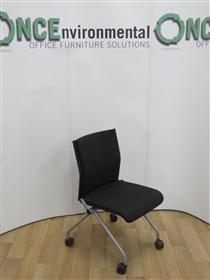 SteelcaseSteelcase Conference Chair On Available In Any Colour FabricSteelcase used second hand conference chair available in any colour fabric. On a silver leg frame with castors