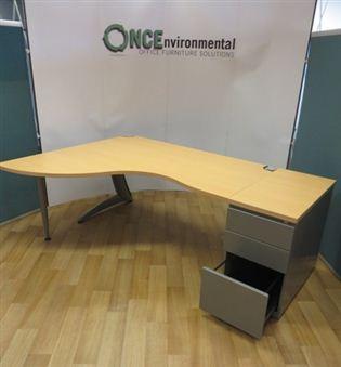 Used Desks Steelcase Tnt 2015w X 1400d Beech Workstation