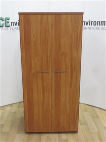 Cherry 1800H x 800W x 500D Double Door Cupboard. 5 IN STOCKUsed Second Hand Cherry Double Door Cupboard 1800h x 800w x 500d.