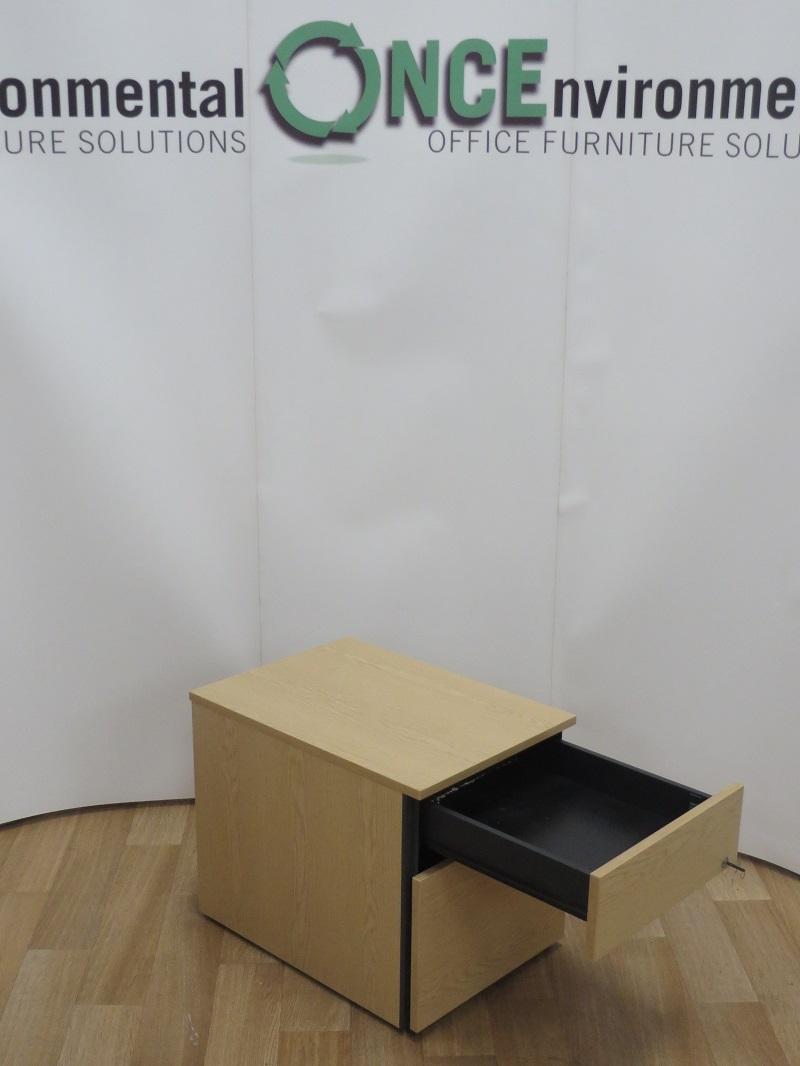 Used Office Storage Sven Christianson Light Oak 2 Drawer