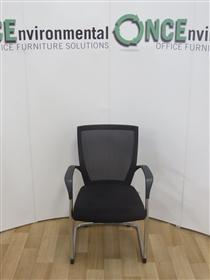 TechoTecho Sidiz Chrome Frame Cantilever Arm Chair Available In Any Colour FabricTecho Sidiz T50 Chrome Frame Cantilever Arm Chair.
