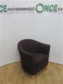 Tub Reception Chair 800W x 700D Available In Any Colour FabricReception tub chair with beech wood legs second hand used in any colour fabric.