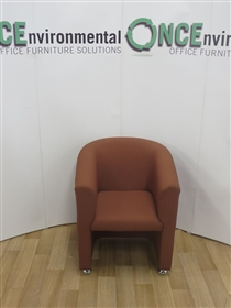 Reception Tub Chair 700W x 730D  Available In Any Colour FabricReception tub chair on chrome plated disc feet.