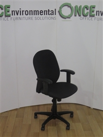 VercoVerco Ergoform ERG23AA With Pelvic Support Available In Any Colour FabricVerco Ergoform Used Second Hand ERG23AA With Height Adjustable Arms
