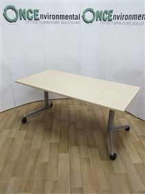 WerndlWerndl Tilt Top Maple Table 1600W x 800DWerndl used second hand flip top maple table 1600w x 800d on a silver leg frame with locking castors.