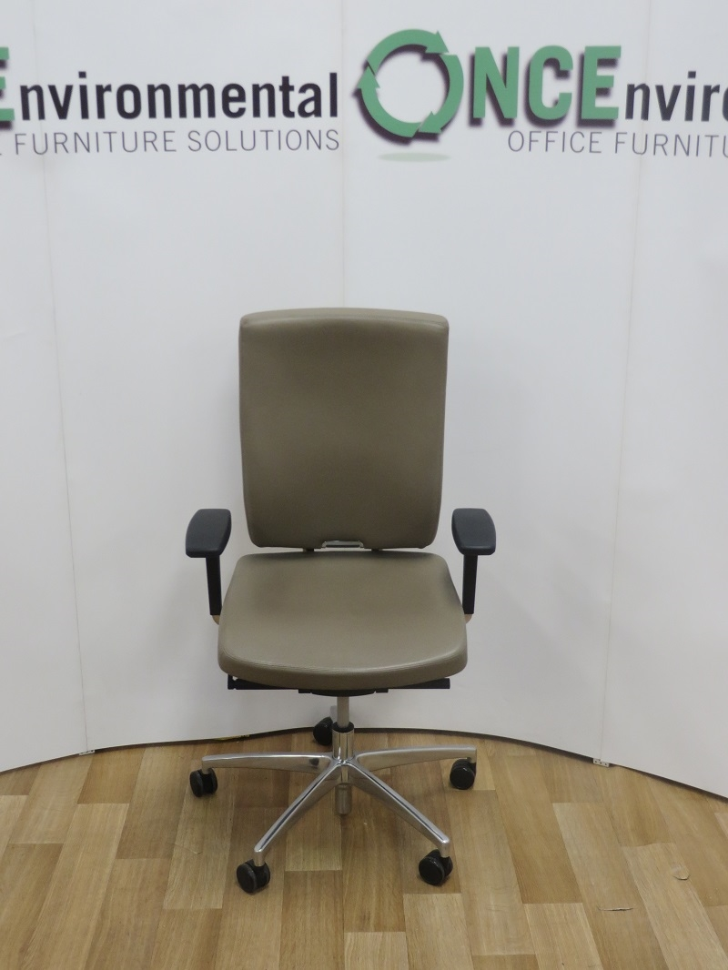 used chairs boss design sona chair in dark beige leather