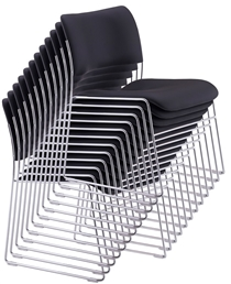 HoweHowe 40/4 Classic Chrome Frame Stacking Chair Available In Any Colour Fabric 70 In Stock.