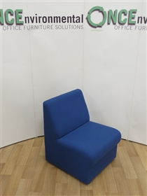 Modular Reception Unit 600W x 700D Available In Any Colour FabricModular used second hand reception unit.