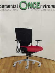 Ride Black Mesh Back Chair With Arms And A Fabric Covered Seat Available In Any Colour Fabric. 30 IN STOCKRide used second hand task, operator or managerial chair.