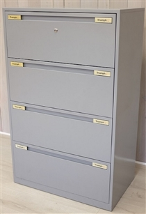 TriumphTriumph 4-Drawer Side Filer 1280H x 800W x 475D In GreyTriumph 4-drawer side filer in grey finish 1280h x 800w x 475d